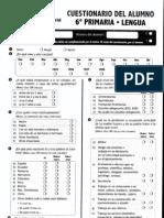 Cuestionario Matematicas y Lengua 6º primaria