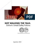 Walking the Talk Duponts Untold Safety Failures