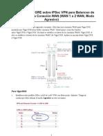 Cómo configurar GRE sobre IPSec VPN