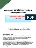 Educacion Para La Innovacion y La Competitividad