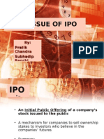 Pre-Issue  processof Ipo