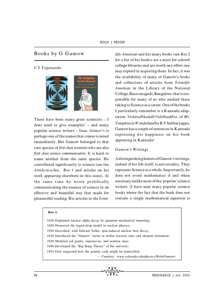 July 2004 Book Review 1 Nuclear Physics Science