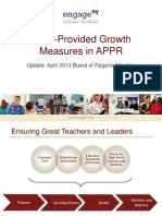 April 22, 2013 NYSED APPR Growth Measures Update