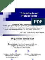 Aula 1 - Introdução ao metabolismo (Farmácia 2013)