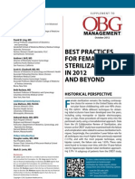 Best Practices for Female Sterilization in 2012 and Beyond