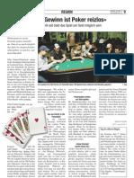 «Ohne Gewinn ist Poker reizlos»