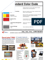 Sample Procedure - 5S Standard Colour Code