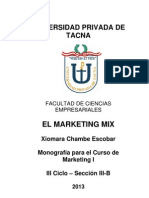 Monografia Del Marketing Mix - Xiomara Chambe Escobar