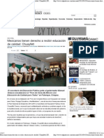 10-03-04 Mexicanos tienen derecho a recibir educación de calidad- Chuayfett