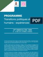 """""""Transitions politiques et droits humains"""