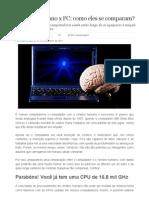 Cerebro Humano x Pc