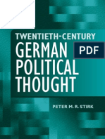 20th Century German Political Thought 2006 eBook