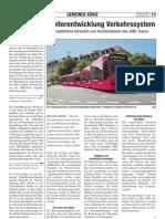 Weiterentwicklung Verkehrssystem