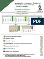Calendario Upav Enero-Abril 2013