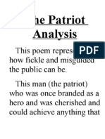The Patriot Analysis