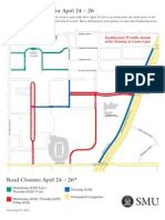 SMU Road Closure's April 24