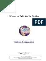 Cours Individu Et Organisation Master HECI UI