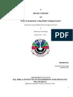 Project Report on Data transmission using multitasking socket