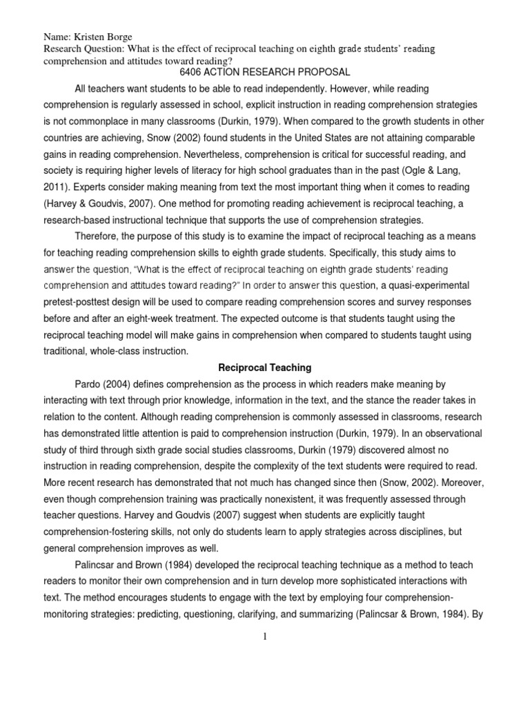 reading comprehension strategies research paper Overview of reading comprehension comprehension is the essence of reading and the active reading comprehension is a complex interaction among automatic and strategic cognitive in a comprehensive review of research, the national reading panel (2000) concluded that vocabulary.