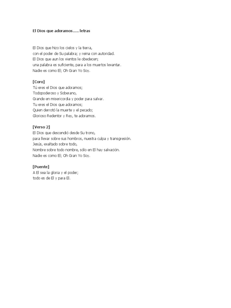 El gran yo soy letras - El Gran Yo Soy Letras 15