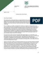 Open Letter to Premier Redford, April, 2013