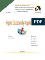 Trqabajo Seguridad e Higiene Ocupacional