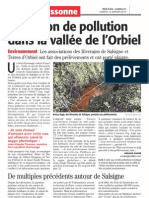 224 Midi Libre 12 Janvier 2013 Pollution Orbiel - Lassac