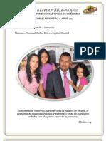 INFORME MISIONERO A ABRIL 2013 - APARTADÓ, DISTRITO 12