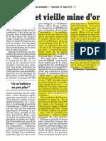 228 Canard enchaîné 13 mars 2013 pollution béal - mensonge préfet