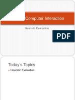 Hueristic Evaluation