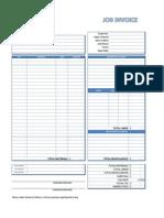 Invoice Template - Job
