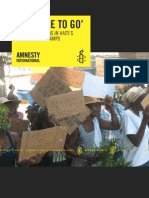 Amnesty International - Forced Eviction in Haiti's Displacement Camps