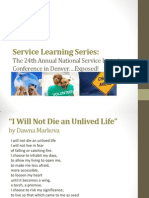 spring2013--service learning presentation about nylc conference in denver--series 1