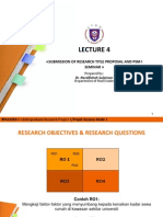 Lecture 4@Submission of RP, LR and Research Proposal