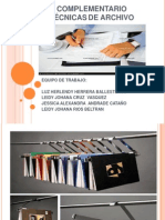 Presentacion Tecnicas de Archivo