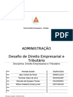 Trabalho de Direito Empresarial e Tributario
