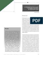 La distribución del texto escrito en la página