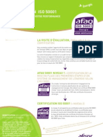 AFNOR Certification ISO 50001 Fiche