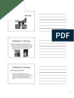 Unit I-A Introduction to Nursing