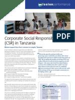 CSR in Tanzania