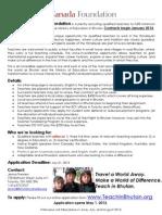 Teach in Bhutan, Apply May 1st!