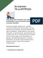 Artrita Si Artroza