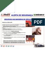 ALERTA DE SEGURANÇA - MANOBRAS DE RÉ