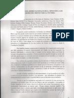 Carta de los legisladores nacionales de la oposición a los legisladores del FPV