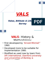 VALS (value attitude & lifestyle survey)