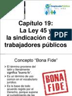 Capitulo 19 La Ley 45 y La Sindicacion de Los Trabajadores Publicos