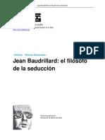 Jean Baudrillard El Filosofo de La