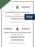Invitation - Canada's UPR - 25APRIL13
