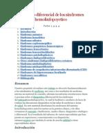 Diagnóstico diferencial de los síndromes del sistema hemolinfopoyetico