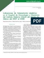 Indicaciones de histerectomía obstétrica